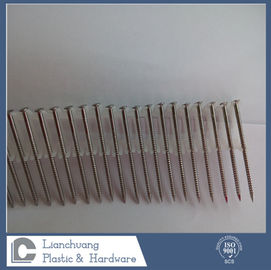 China SUS304 Plastic Collated Nails , Stainless Steel Ring Shank Roofing Nails 3.1 X 80MM factory