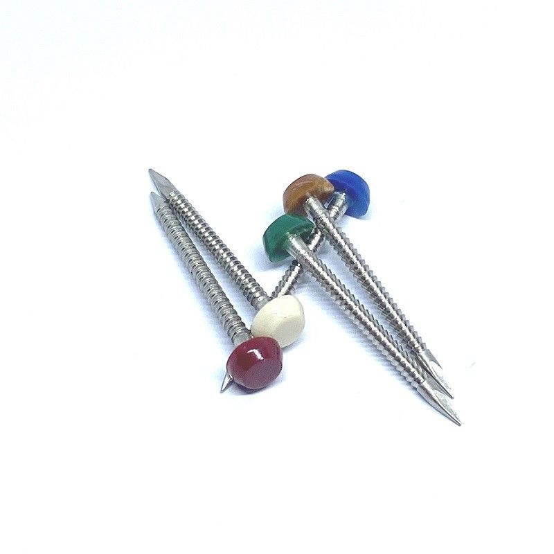 Annular Ring Shank Plastic Head Nails / Pins